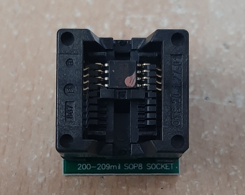 SOIC8 SOP8 to DIP8 adapter for the BIOS chip